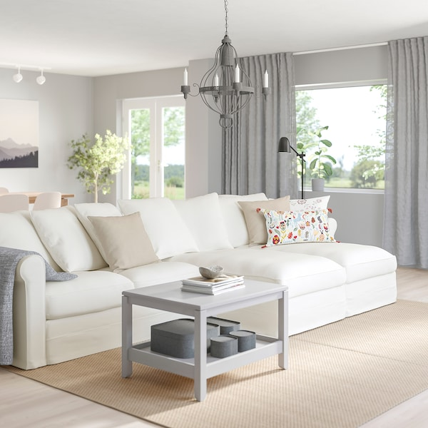 HÄRLANDA Sectional, 4-seat, with chaise/Inseros white