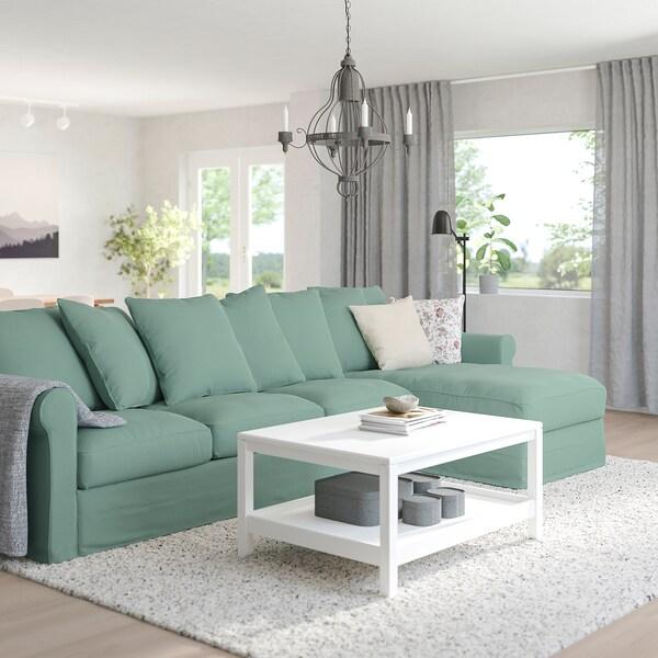HÄRLANDA Sectional, 4-seat, with chaise/Ljungen light green