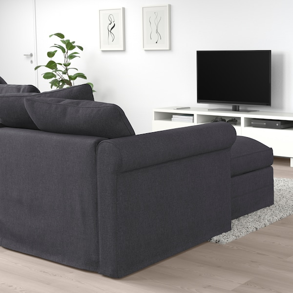 HÄRLANDA Sectional, 4-seat, with chaise/Sporda dark gray