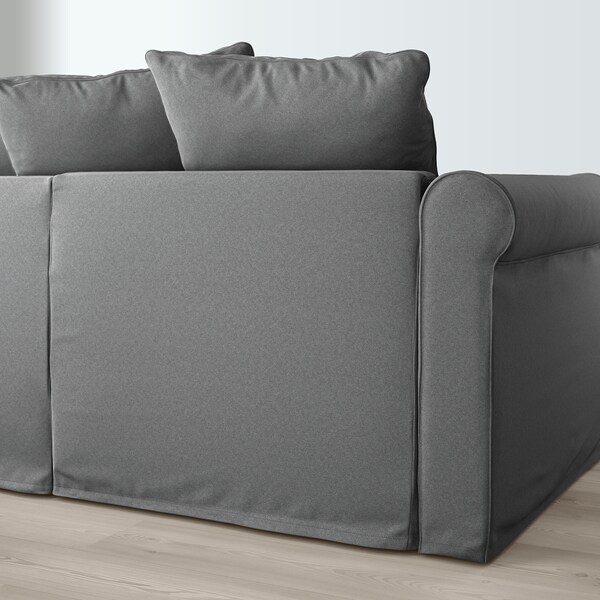 HÄRLANDA Sectional, 5-seat corner, with chaise/Ljungen medium gray