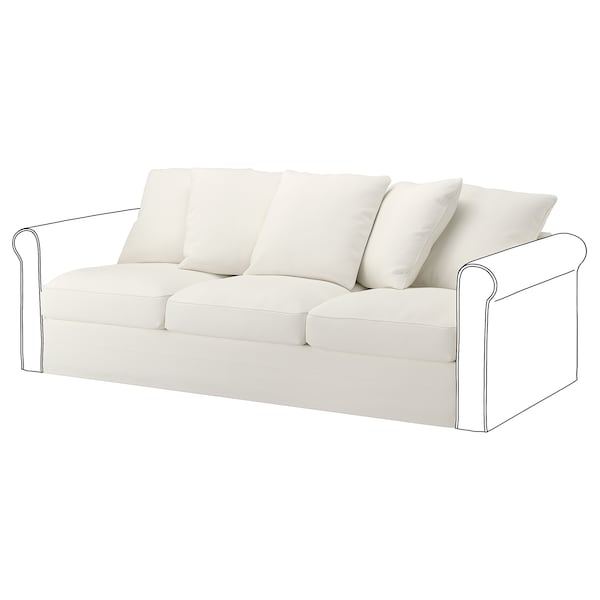 HÄRLANDA Sofa section, Inseros white