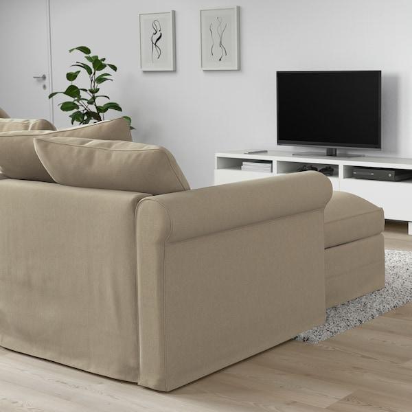 HÄRLANDA Sofa, with chaise/Sporda natural