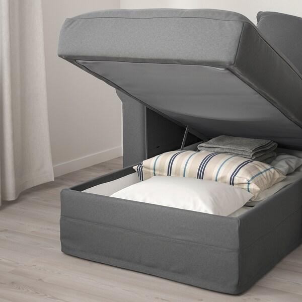 HÄRLANDA Sofabed, with chaise/Ljungen medium gray