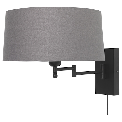 "HALKIP wall lamp with swing arm gray 13 W 18 "" 12 "" 14 "" 5 ' 11 """