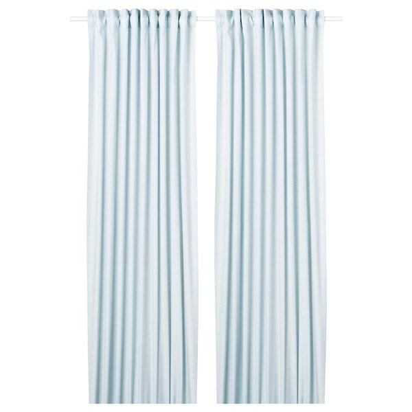 """HANNALILL Curtains, 1 pair, blue, 57x98 """""""