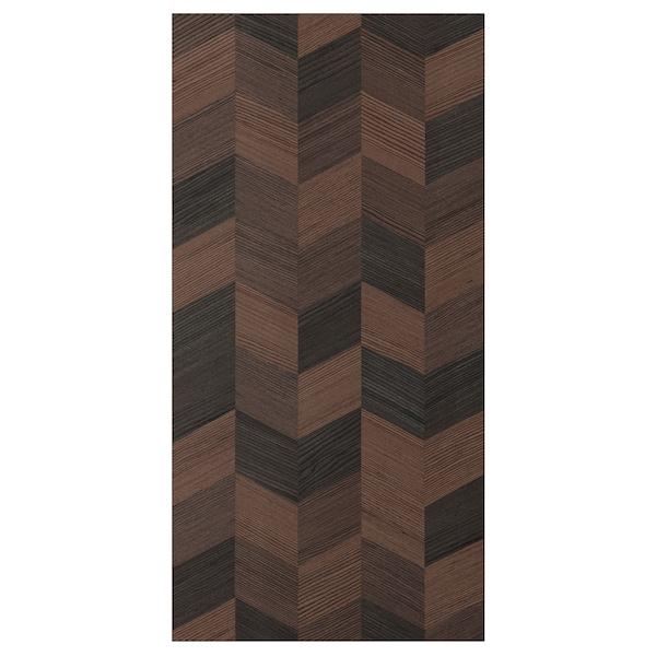 """HASSLARP Door, brown/left-handed patterned, 15x30 """""""