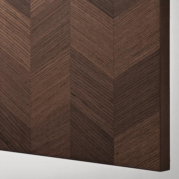 """HASSLARP Door, brown/left-handed patterned, 15x40 """""""