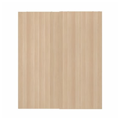 "HASVIK Pair of sliding doors, white stained oak effect, 78 3/4x92 7/8 """
