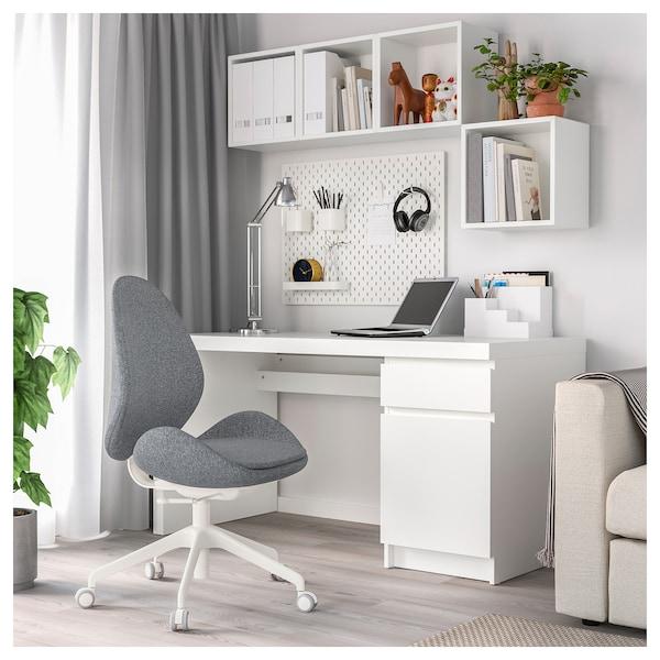 HATTEFJÄLL Office chair, Gunnared medium gray