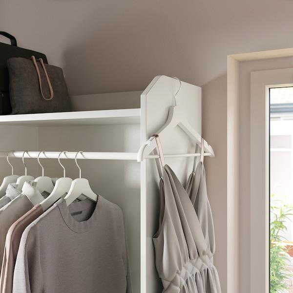 "HAUGA Open wardrobe with 3 drawers, white, 27 1/2x78 3/8 """