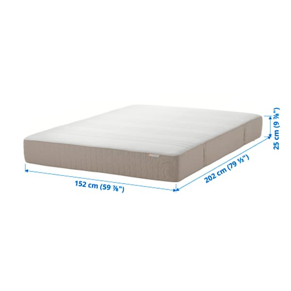 HAUGESUND Spring mattress, firm/dark beige, Queen