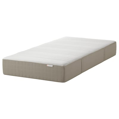 HAUGESUND Spring mattress, medium firm/dark beige, Twin