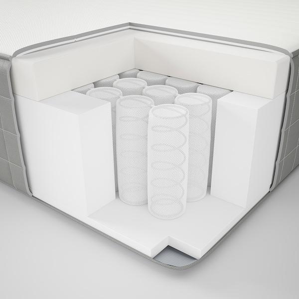 HAUGSVÄR Hybrid mattress, plush/dark gray, Twin