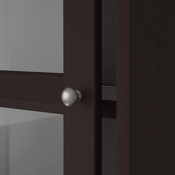 """HAVSTA Storage with sliding glass doors, dark brown, 95 1/4x18 1/2x83 1/2 """""""