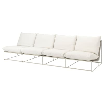 """HAVSTEN 4-seat sofa, in/outdoor, without armrests/beige, 128 3/8x37x35 3/8 """""""