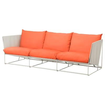 """HAVSTEN Sofa, in/outdoor, orange/beige, 102 3/8x37x35 3/8 """""""