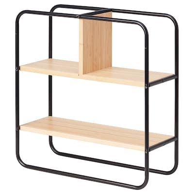 HEDEKAS Display shelf, square/bamboo, 15 3/8x15 3/4 ""