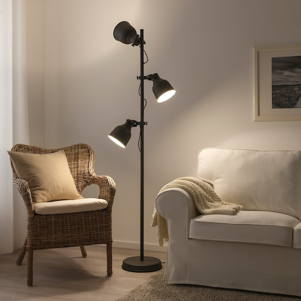 IKEA HEKTAR Floor lamp with 3-spotlights