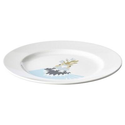"""HELSTEKT side plate white chicken 8 """""""