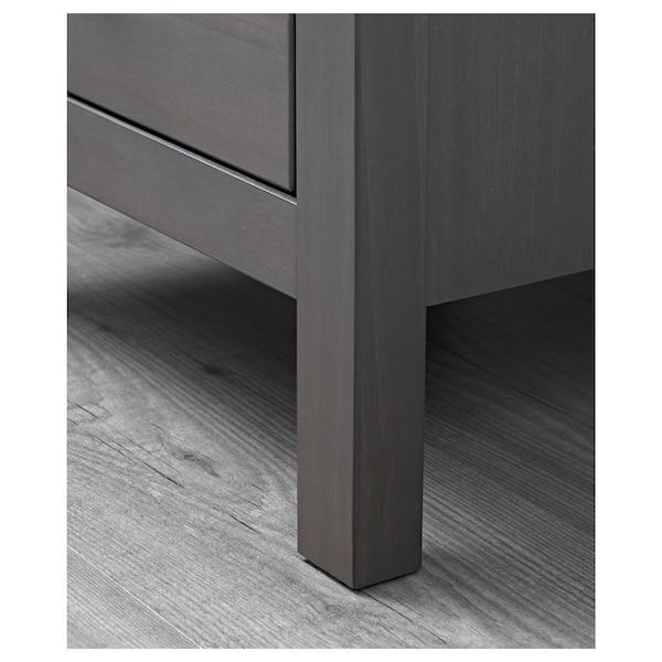 "HEMNES 2-drawer chest, dark gray stained, 21 1/4x26 """