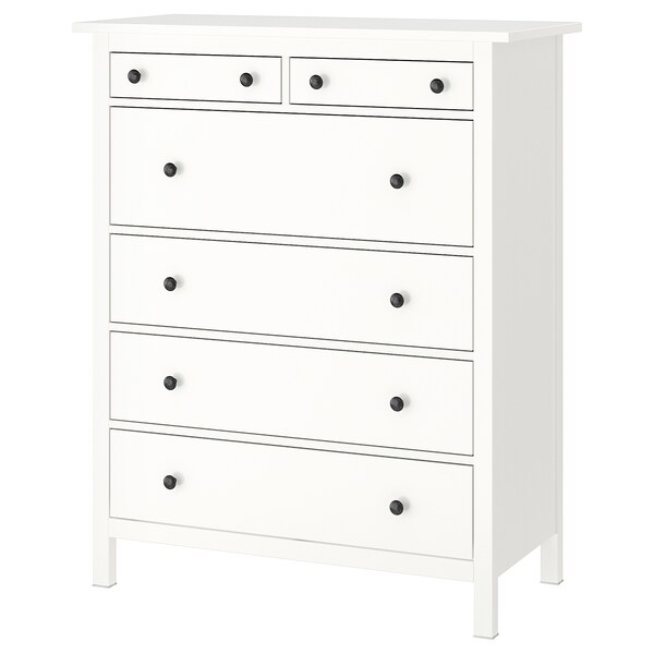 HEMNES 6-drawer chest, white, 42 1/2x51 5/8 ""