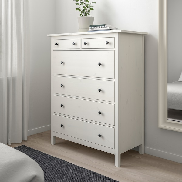 Hemnes 6 Drawer Chest White Stain Ikea
