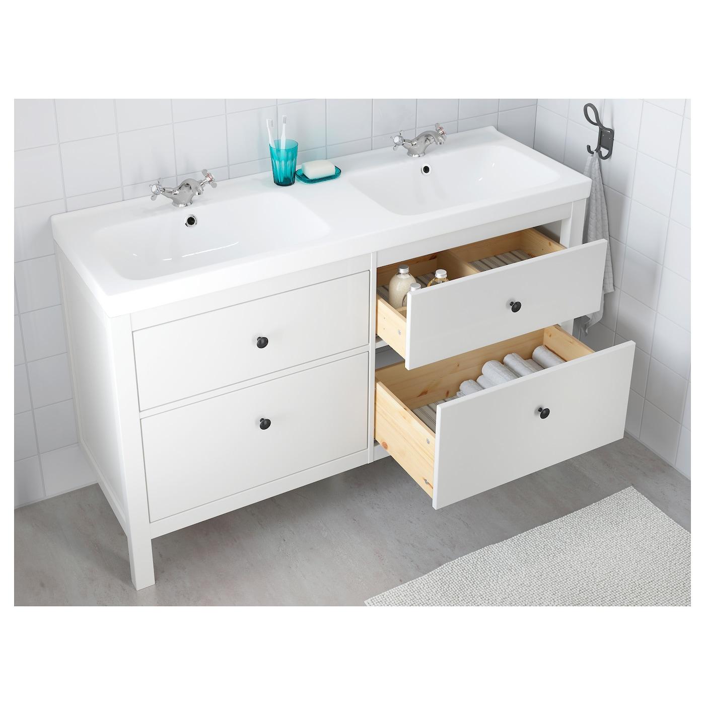 "HEMNES Bathroom vanity - white 8 8/8 "" (840 cm)"