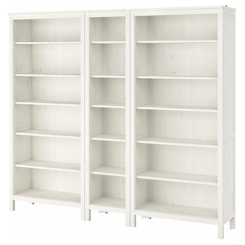 "HEMNES bookcase white stain 90 1/8 "" 14 5/8 "" 77 1/2 """