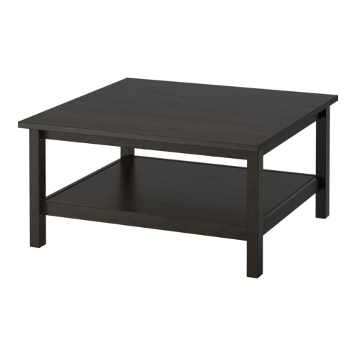HEMNES Coffee table   Solid wood; gives a natural feel.  Separate shelf for storing magazines, etc.