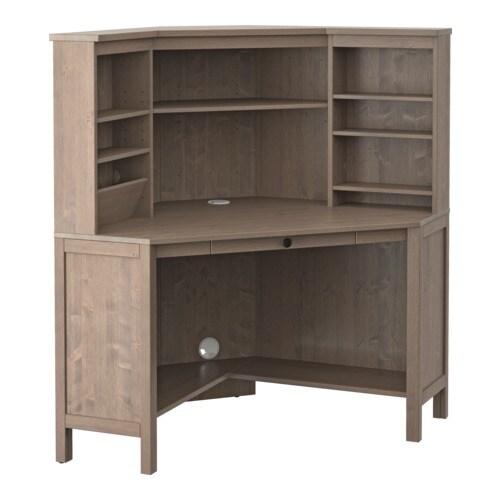 HEMNES Corner work station gray brown IKEA