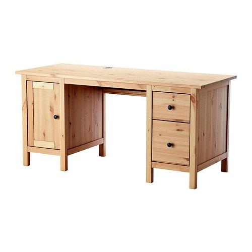 HEMNES Desk - light brown - IKEA