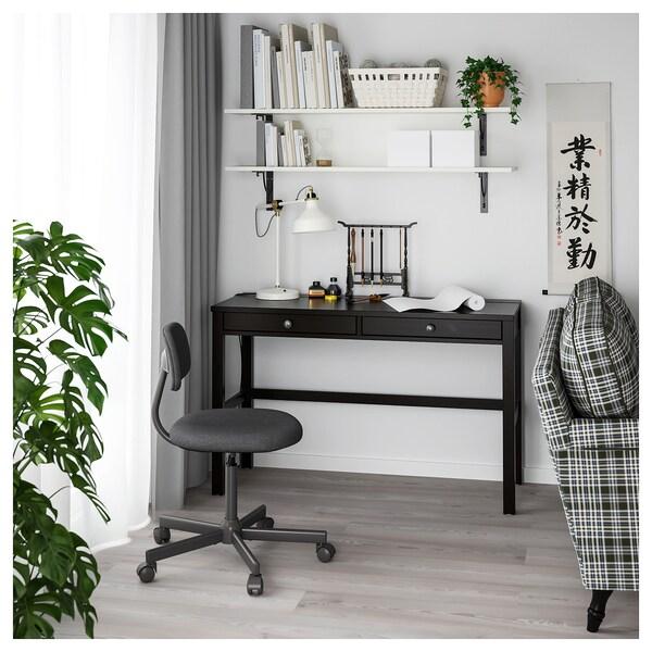 "HEMNES Desk with 2 drawers, black-brown, 47 1/4x18 1/2 """
