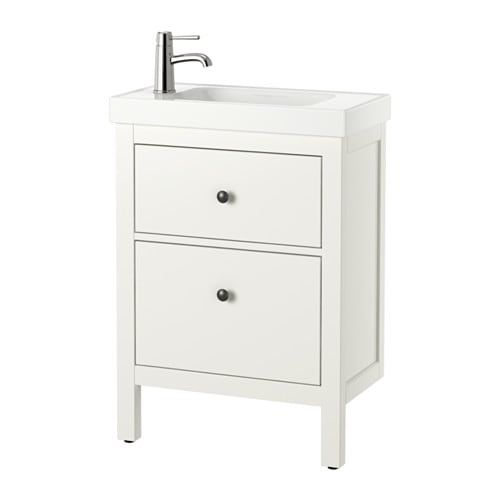 Hemnes hagaviken sink cabinet with 2 drawers white ikea - Mueble lavabo ikea ...