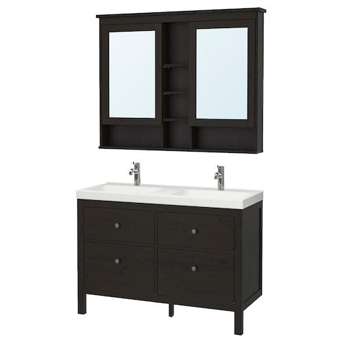 IKEA HEMNES / ODENSVIK Bathroom furniture, set of 5