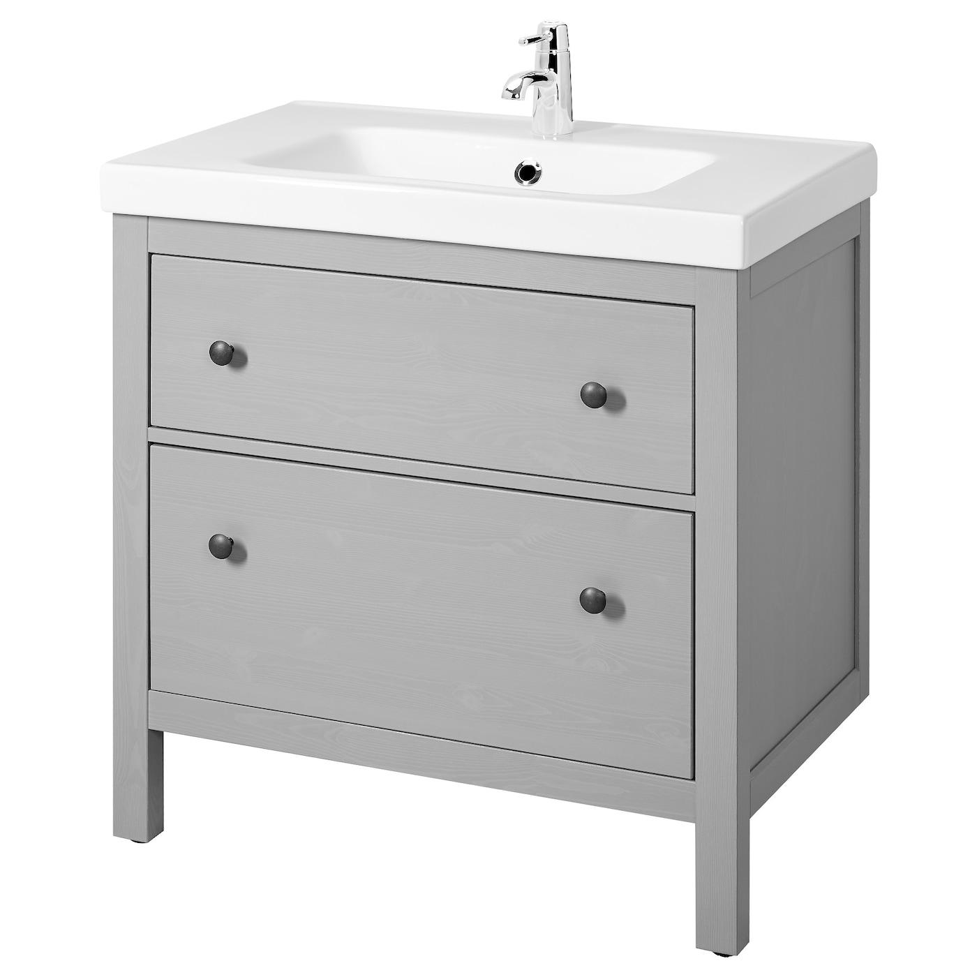 "HEMNES / ODENSVIK Bathroom vanity - gray 8 8/8x8 8/8x38 "" (8x8x8 cm)"