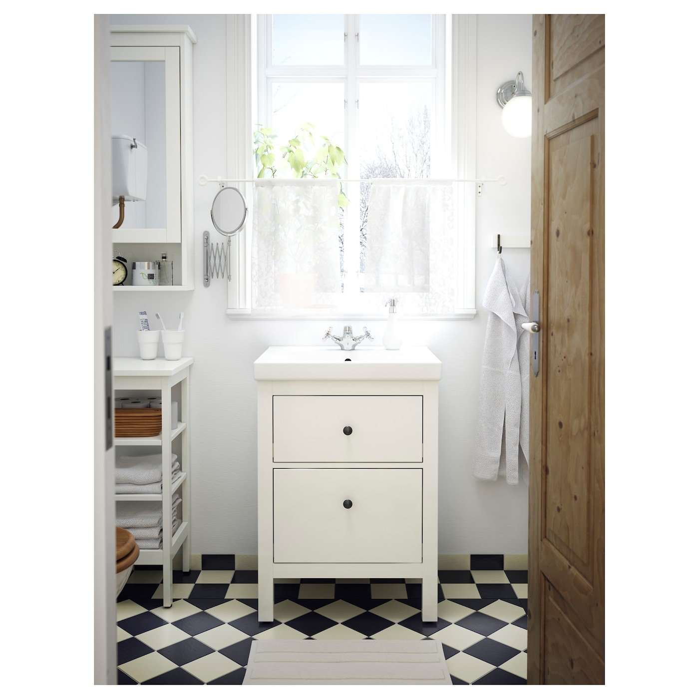 "HEMNES / ODENSVIK Bathroom vanity - white/Runskär faucet 8 8/8x8 8/8x85 ""  (68x8x8 cm)"