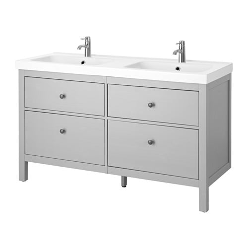 hemnes odensvik sink cabinet with 4 drawers gray ikea