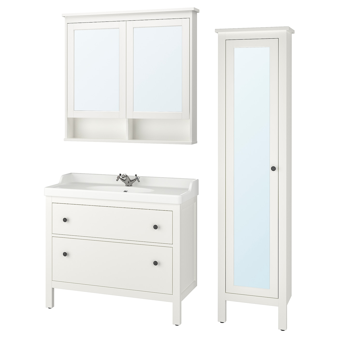 HEMNES / RÄTTVIKEN Bathroom furniture, set of 5 - white ...
