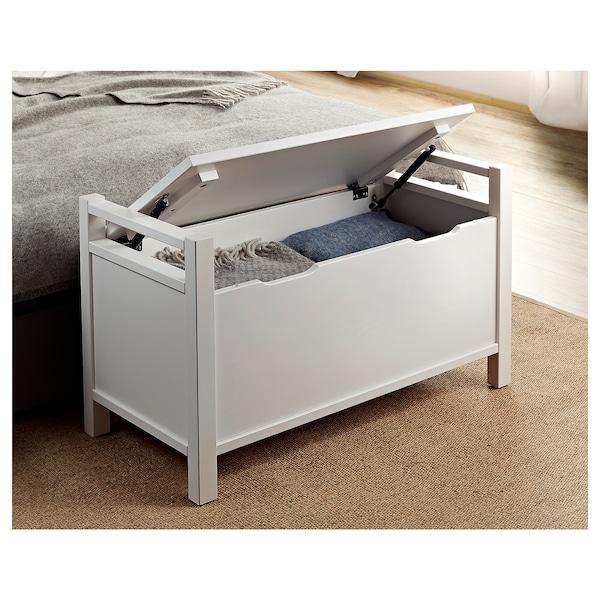 HEMNES Storage bench - white stain white - IKEA