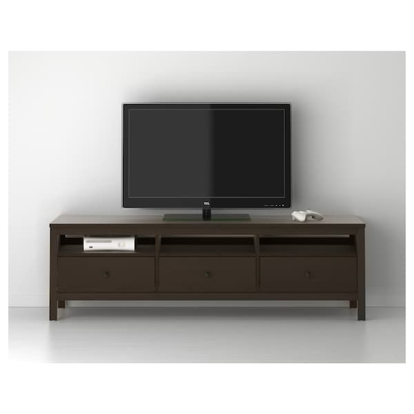 Hemnes Tv Bench Black Brown