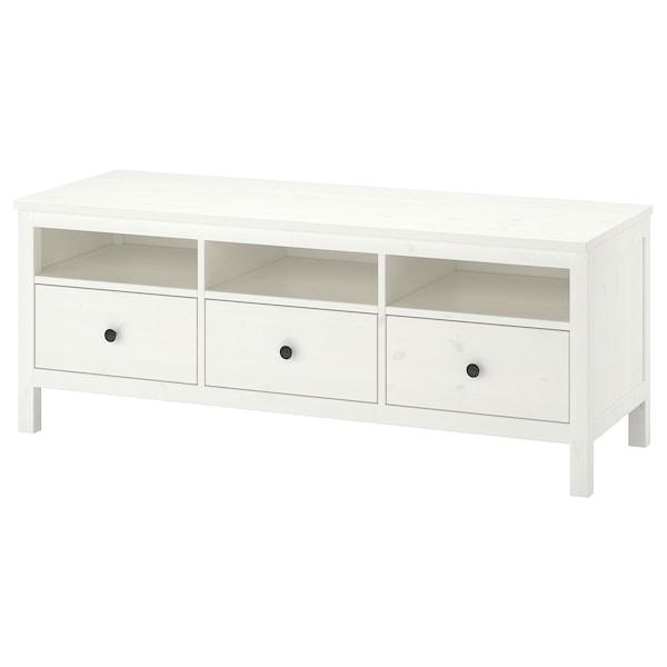Tv Meubel Quebec.Hemnes Tv Bench White Stain Find It Here Ikea