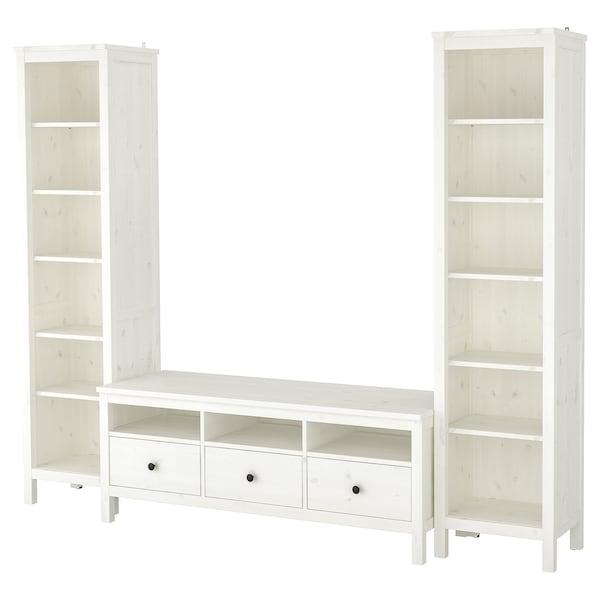 Tv Meubel Billy.Hemnes Tv Storage Combination White Stain Ikea