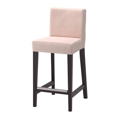 henriksdal bar stool with backrest ikea. Black Bedroom Furniture Sets. Home Design Ideas