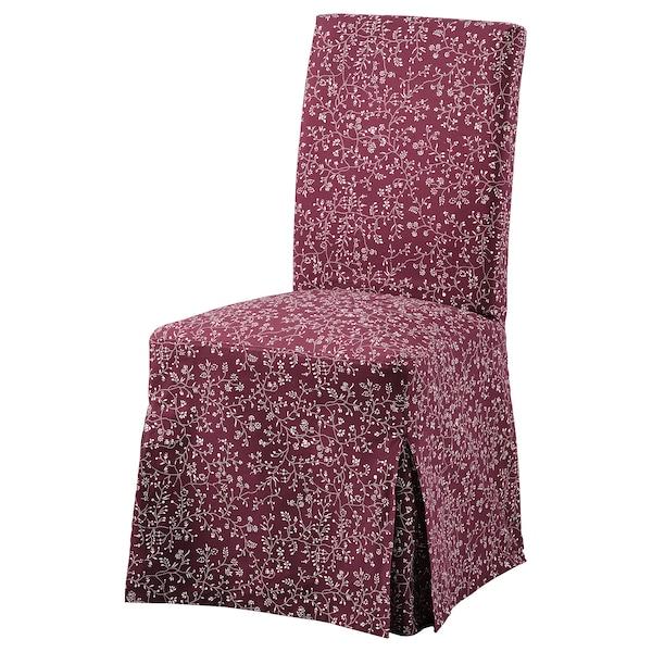 HENRIKSDAL chair cover, long Ryrane dark red