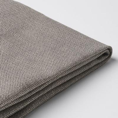 HENRIKSDAL Chair cover, Nolhaga gray-beige