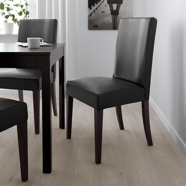 HENRIKSDAL Chair, dark brown/Glose black - IKEA