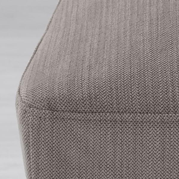 HENRIKSDAL Chair, dark brown/Nolhaga gray-beige