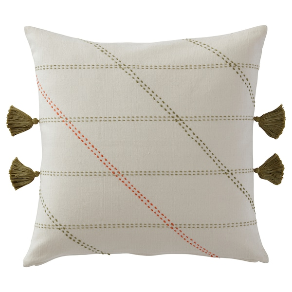"HERVOR Cushion cover, handmade off-white, 20x20 """