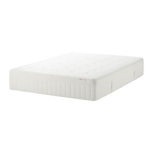 HESSTUN Spring mattress medium firm white Queen IKEA