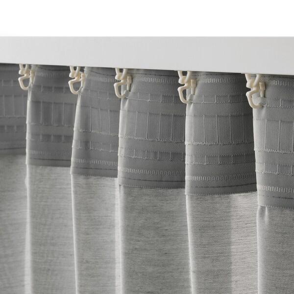 "HILJA Curtains, 1 pair, gray, 57x98 ½ """
